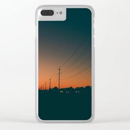 Fade Into Night Clear iPhone Case