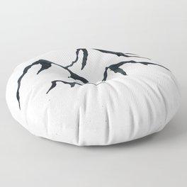 MOUNTAINS Black and White Floor Pillow