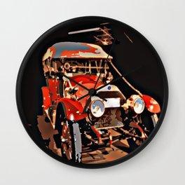 Vintage Red Car Wall Clock