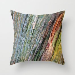 Water Colored Wood Texture Throw Pillow