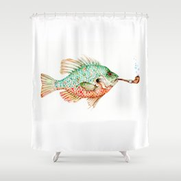 River Sunfish with a Pipe Shower Curtain
