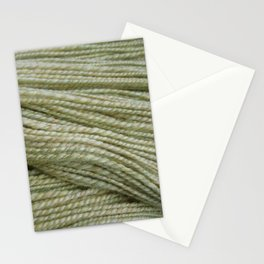 Yellow, light green handspun yarn Stationery Cards