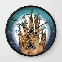 stargate Wall Clocks featuring Stargate by Sandra Dieckmann