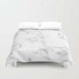 White Marble Duvet Cover