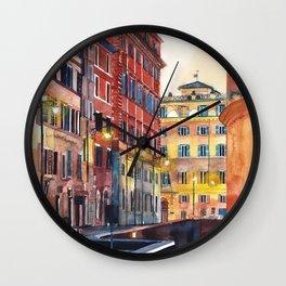 Rome street next to Pantheon Wall Clock