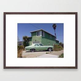 Green on Green Framed Art Print