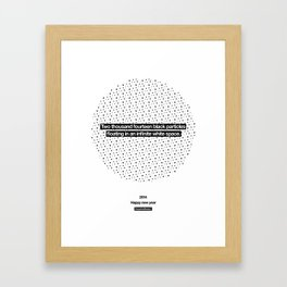 2014 Particles - White Framed Art Print