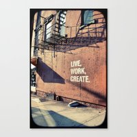 brooklyn Canvas Prints featuring Brooklyn by Lorenza D. Walker