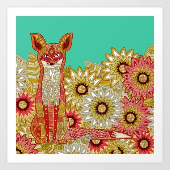 garden fox Art Print