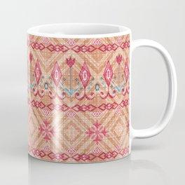 The stripe design on a beige background. Coffee Mug