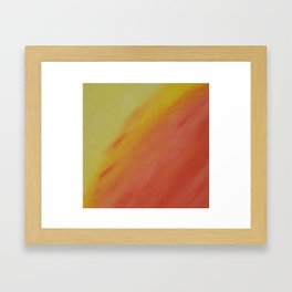 Yellow and Orange Ombre Art Print  Framed Art Print