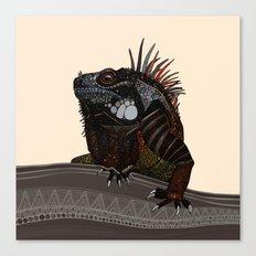 iguana ecru Canvas Print