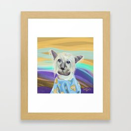 Chinese Crested in her PJ's Framed Art Print