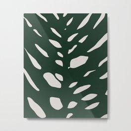 Monstera leaf abstract pattern Metal Print