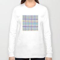 plaid Long Sleeve T-shirts featuring Plaid Pattern by Anita Ivancenko