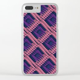 3D Dotted BG Clear iPhone Case