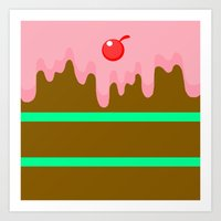 cake Art Prints featuring Cake by Rejdzy
