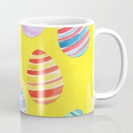 Easter Egg Watercolor Pattern -  Yellow Coffee Mug