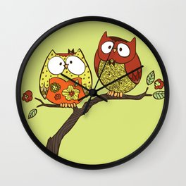 Decorative Owls Wall Clock