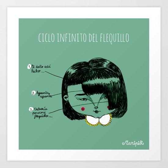 Flequillos Art Print