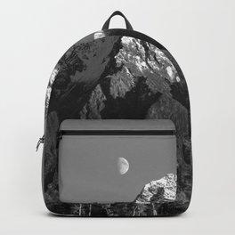 Moon Over Pioneer Peak B&W Backpack