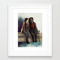 jem Framed Art Prints featuring Jem & Alex by laya rose