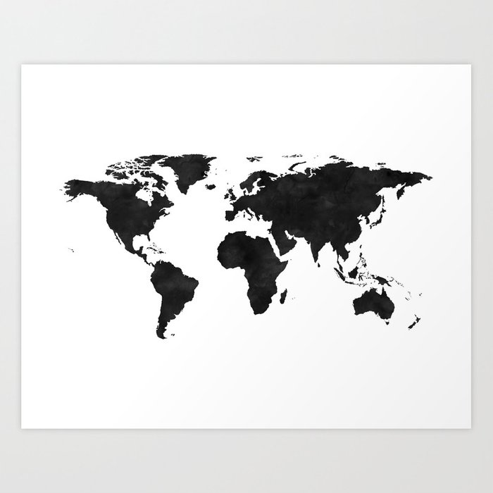 World Map Wall Art,World Map Canvas,World Map Print,World Map  Poster,Printable Art,World Map Svg,Wat Art Print by aleksmorin