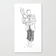 Holding the Bunny Canvas Print