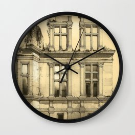 Chateau Ruins Wall Clock