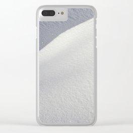 Deep snowdrifts Clear iPhone Case