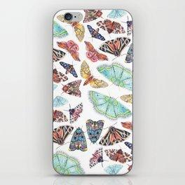 Nature Illustration of Moths iPhone Skin