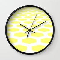 hexagon Wall Clocks featuring Hexagon by henrymade