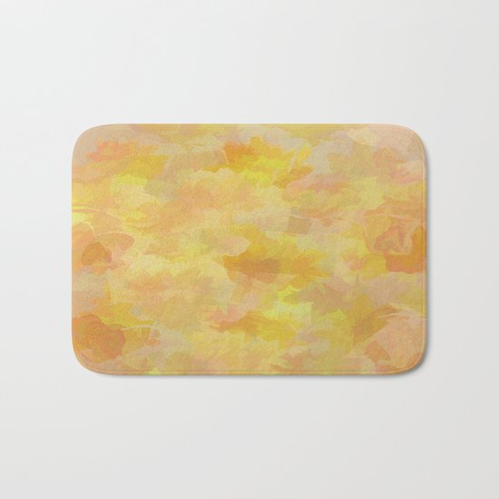 Floating Flowers Painterly Abstract Bath Mat
