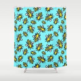 Honey Bee Swarm Shower Curtain