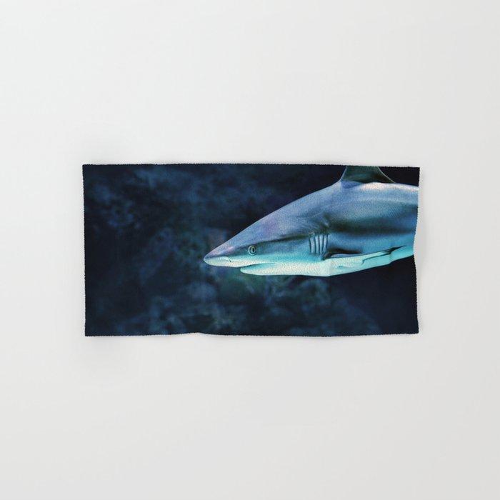 Gray Shark Head (Color) Hand & Bath Towel