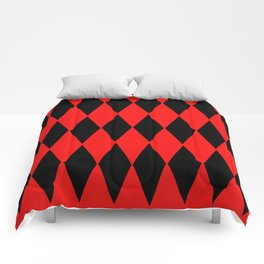 LARGE RED AND BLACK  HARLEQUIN DIAMOND PATTERN Comforters
