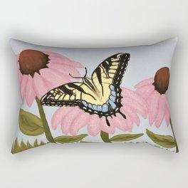 Swalowtail Butterfy on Purple Cone Flower Rectangular Pillow