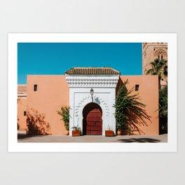 Colorful Marrakech Morocco photography print Art Print