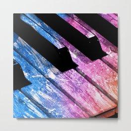 Colorful Keys Metal Print