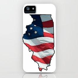 Patriotic Illinois iPhone Case