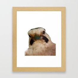 Geeky European Jay Vector Framed Art Print