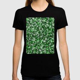 Green Christmas Lights T-shirt
