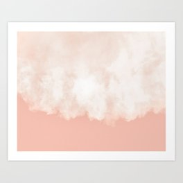 Cotton candy in beige pink Art Print