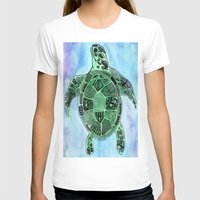 tatoo T-shirts featuring Tatoo Sea Turtle by PepperDsArt