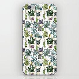 Tiny Cactus Succulents Cacti iPhone Skin