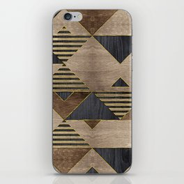 Geometric Wooden texture pattern iPhone Skin