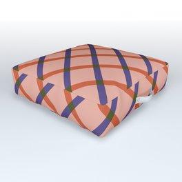 Bright Modern Grid Outdoor Floor Cushion