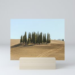 Typical landscapes for Siena Province in Tuscany, Italy. Mini Art Print