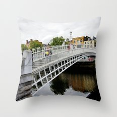 Ha'penny Day Throw Pillow