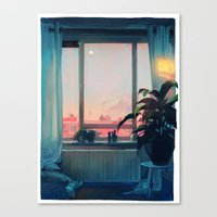loish Canvas Prints featuring sunset by loish